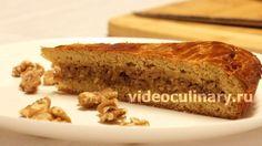 Медовый пирог с орехами из вкусного и ароматного теста. Ореховая начинка делает пирог изысканным. Видео и Фото рецепт Медового пирога с орехами от Бабушки Эммы