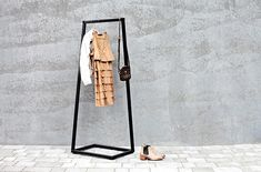 BEdesign Lume Coat Stand - Small in Charcoal Black. Minimalist storage solution. Ideal for warehouse conversions and modern homes!
