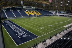 This stadium gallery comes to you courtesy of College Football America publisher Kendall Webb.  The J.L. Walkup Skydome is the home of the Northern Arizona Lumberjacks in Flagstaff, Arizona. When it opened in 1977, it was the world's largest clear-span timber dome, giving way to the Tacoma Dome when it opened in 1983 in Tacoma, Washington. The playing surface is at an elevation of 6,880 feet, second only to Wyoming's War Memorial Stadium in Division I football.