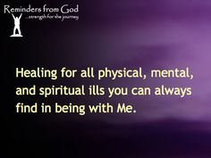 Healing with God