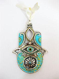 Sale Ceramics paint HAMSA Craft Judaica wall by IrinaSmilansky, $38.99