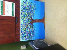 CCDS Auction Project. Kids' names are written in the trunk of the tree. So gorgeous.