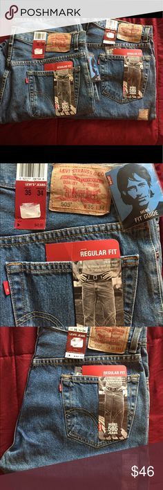 NWT 2 pairs of Men's Levi jeans 505 size W 35 L 34 NWT 2 pairs of Men's Levi jeans 505 size W 35 L 34 Levi's Jeans