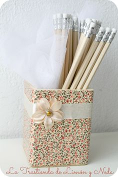 Diy lapicero decorado con tecnica de decoupage paso a paso