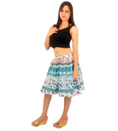 ee79eeea20 Cotton printed summer short skirt for women. Women love to wear the trendy  and beautiful