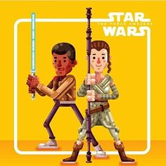 Starwars character by @raulaguiar  #follow us to see more creative and inspirational design everyday!  #design #illustrator #logo #designspiration #icon #icondesign #vector #graphicdesign #simple #creative #flatdesign #graphicdesigner #pictoftheday #art #pixel #inspiration #iconaday #shoutout #starwars #character #yellow by bananas_cdc