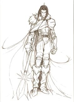 Spear Warrior by Beckate #fighter
