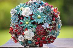 Custom order Brooch Bouquets. $100.00, via Etsy.
