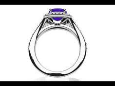 Andrea Love Cushion Cut Gemstone Anniversary Ring