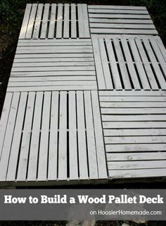 How to Build a Wood Pallet Deck : Outdoor Space | Details on HoosierHomemade.com #BHGRefresh 2139 162 Jackie K great idea! Pin it Send Like Learn more at becauseiliketodecorate.com becauseiliketodecorate.com DIY oversized growth chart ruler-pretty good instructions on this one 628 74 Sarah Everhart Lincoln Tiberius Pin it Send Like Learn more at instructables.com instructables.com Instructions to build kids picnic table from Instructables 286 35 See Make Like Take Do It Yourself Today Pin it…