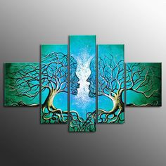 Love this oversize tree in  5-panel hand-painted canvas. Only sold at US$162.99!