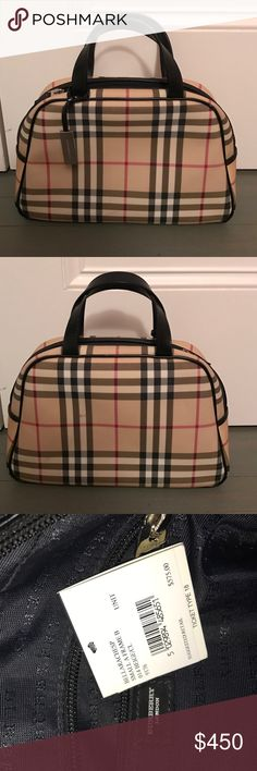 Burberry small house check handle bag NWT Authentic Burberry small house check handle bag NWT. $500 price tag to ensure poshmark authenticity Burberry Bags Totes