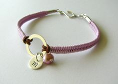 Personalized Macrame Bracelet with Freshwater Pearl by MaisJewelry, $28.00