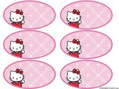 printable Hello Kitty tags/labels-cute for bottle labels, name tags, favor bags, cupcake toppers. Kitty Party, Hello Kitty Theme Party, Hello Kitty Themes, Hello Kitty Cake, Hello Kitty Baby Shower, Hello Kitty Invitations, Hello Kitty Imagenes, Hello Kitty Pictures, Cute Kittens