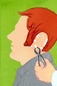 Beautifully done illustration from an article about treating post-traumatic stress disorder (PTSD)