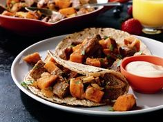 The perfect way to give leftover steak or roast new life, this hash is made with sweet potatoes and taco seasoning.