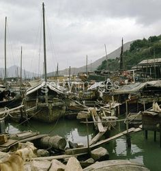 Hong Kong (China). Floating dwellings of the port of Aberdeen 1976 | by fong.laikuen