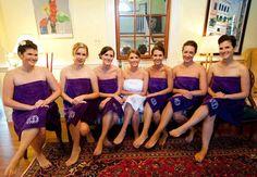 SET OF 7 Monogrammed Bath Wrap   Velour Bridesmaid by MisterandMrs, $230.65