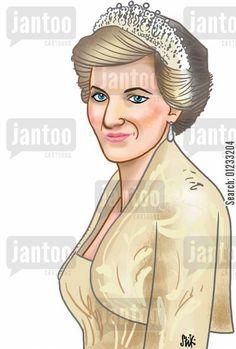 Princess Diana, by Jantoo Cartoons