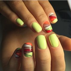 Accurate nails, Beautiful nail colors, Beautiful nails 2017, Bright colorful nails, Colorful gel polish, Juicy summer nails, Manicure by summer dress, Stylish nails