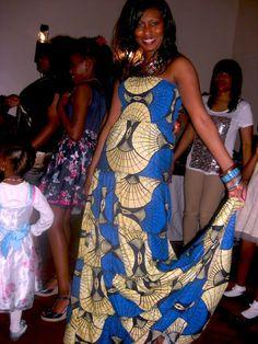Kiki's Fashion: Kiki's Fashion Kitenge maxi dress