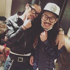 [Alexandros]庄村聡康2015/11/14 昨日、三つ編み双子?兄弟?いましたよ笑  /サンチェInstagram
