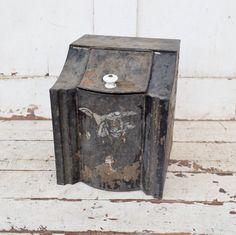 Vintage Folding Wooden Step Stool Rustic Primitive Shabby