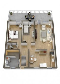 Two bedrooms is just enough space to let you daydream about having more space. There are as many two bedroom floor plans as there are apartments and houses in the world. Take at look at these 40 optio