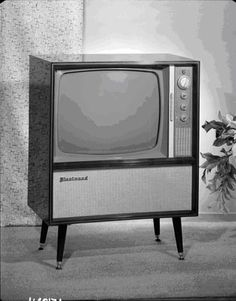 The Sixties....in black and white.  Yup... this was it.... no remotes.  Nope.  Them were the days.  haha... We thought!