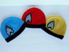Star Trek crochet hats