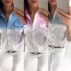 Fashion Women Lady Loose Long Sleeve Tops Blouse Shirt Casual Cotton T-Shirt