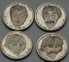 Joe Gallagher - Beatles Set (One Dollar Coins) One Dollar, Dollar Coin, The Beatles, Coins, Carving, Personalized Items, Art, Art Background, Rooms