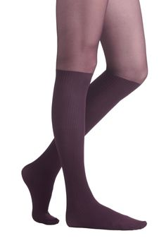 Color Your Chic Tights in Eggplant | Mod Retro Vintage Tights | ModCloth.com