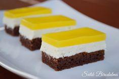 SÜTIK BIRODALMA: Fanta szelet Hungary Food, Cake Cookies, Cheesecake, Food And Drink, Dessert Recipes, Cooking, Drinks, Kitchen, Diet