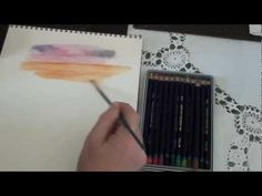 Mixing colors with Derwent Inktense Pencils - YouTube