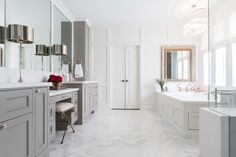 "9 Renovation Don'ts and Other Decorating Mistakes to Avoid Photos | Architectural Digest - ""After"" photo: a beautiful bathroom (=)"