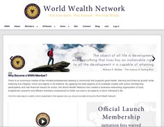 WWN is a global private, supportive, learning, business networking organization of like-minded professionals sharing business, relationship, health and financial information, expertise and experience. WWN educates, supports and encourages the continual growth and improvement of it's Membership in areas that ensure each individual's unique success and development.   #wwn #worldwealthnetwork #business #networking #organization #education #life #learning #motivation #inspiration #club…