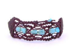 Boho brown bracelet hand crafter christmas gifts di morenamacrame