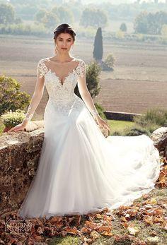 eddy k 2019 ek long sleeves sheer jewel sweetheart neckline heavily embellished bodice elegant a line wedding dress chapel train (22) mv -- Eddy K. 2019 Wedding Dresses