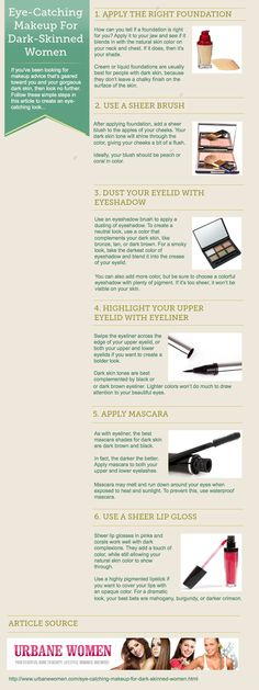 Eye-Catching Makeup For Dark-Skinned Women [Infographic]