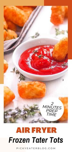 Learn how to cook frozen tater tots in your air fryer. This homemade recipe is a perfect breakfast casserole or instant pot idea. The air fryer gives you that perfect crispy outside with the fluffy center tater tots. These are so easy to make and can be done in under 30 minutes. Have them hot, with cheese, on skewers, or simply enjoy this great breakfast on the go during your busy mornings. You can make tater tots nachos, tater tots casserole, and more with this simple recipe. #breakfastideas Tater Tot Nachos, Loaded Tater Tots, Tater Tot Casserole, Breakfast Casserole, Healthy Toddler Snacks, Easy Snacks, Breakfast On The Go, Perfect Breakfast, Homemade Tater Tots