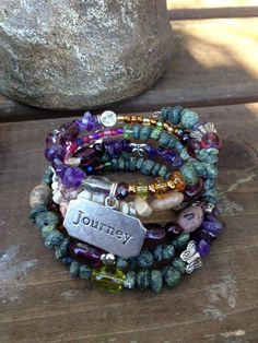 Journey into Serene Five Wrap Memory Wire by DFInspirations, $40.00