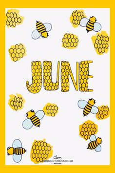 Honey honeycomb bee June drawing Bullet journal monthly cover bujo – Clem Around The Corner – Bullet journal Bullet Journal Month, Bullet Journal Cover Page, Bullet Journal Spread, Journal Covers, Bullet Journal Inspiration, Sailor Moon Wallpaper, Around The Corner, Easy Drawings, Videos