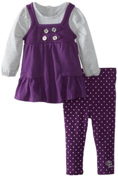 Amazon.com: Calvin Klein Baby-Girls Infant Tunic With Leggings, Purple, 12 Months: Clothing