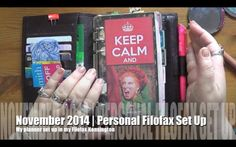 November Filofax Setup | Personal Filofax Kensington - YouTube