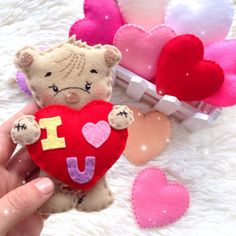 Personalized decor for baby, mobiles, toys, felt boots by DesignerSvetaAris Felt Boots, Valentines Day Decorations, Etsy Seller, Teddy Bear, Toys, Birthday, Unique Jewelry, Handmade Gifts, Ideas