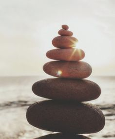 Zen rock stack balance with sunshine by paff - Zen, Meditation - Stocksy United Zen Rock, Rock Art, Beach Workouts, Running Workouts, Meditation Benefits, Chronic Fatigue Syndrome, Healthy Mind, Stay Fit, Pointers