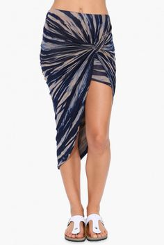 Fall Sunset Skirt in Navy | Necessary Clothing