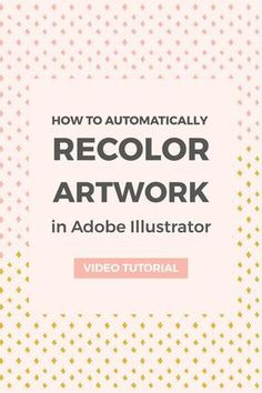The easiest way to recolor artwork in Adobe Illustrator is by using the recolor artwork tool. Follow this tutorial to learn how to use it.
