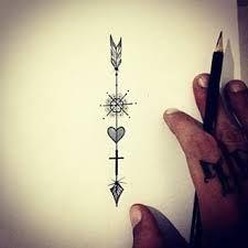 Resultado de imagem para tatuagem flecha
